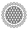 flower cake icon outline style vector image vector image