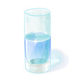 Glass of water on a white vector image