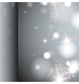 Gray Background With Snowflakes vector image vector image