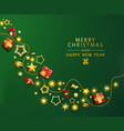 green christmas banner xmas background vector image vector image
