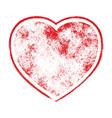 grunge heart shape vector image vector image
