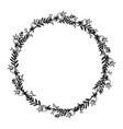 hand drawn wreath floral design vector image vector image