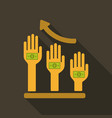 hand poses counting giving taking squeezing and vector image vector image