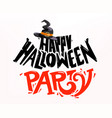 happy halloween party color logo vector image vector image