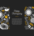 happy thanksgiving day design template vector image