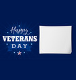 happy veterans day usa lettering banner vector image