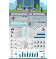 Infographic Go Working People vector image vector image