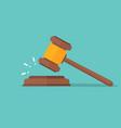 judje hammer icon law gavel auction court hammer vector image