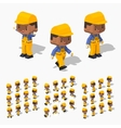 Low poly worker vector image