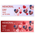 memorial day in honor of the vector image vector image