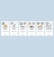 mobile app onboarding screens italian food vector image vector image