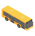 modern school bus icon isometric style vector image vector image