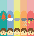 Moods Cute Pastel Man Flat Cartoon vector image vector image