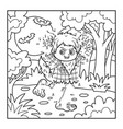numbers game for children werewolf vector image vector image