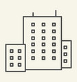 office building thin line icon architecture vector image