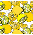 organic lemon graphic fresh slice citrus vector image vector image
