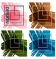 patterns setbrochure design brochure template vector image vector image