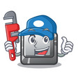 plumber button b in character shape vector image