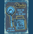 poster design with a camera vector image