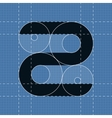 Round engineering font Symbol Z vector image vector image