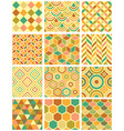 samples geometric patterns vector image vector image