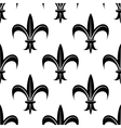 Seamless fleur-de-lis royal black pattern vector image vector image