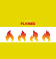 set of 4 hot flame vector image