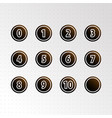 set of circle numbers icon vector image vector image
