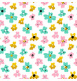 small flowers seamless pattern vector image vector image