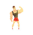 strong muscular athletic man sportsman character vector image