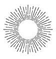 sunburst doodle line art hand drawn sun burst vector image vector image