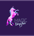 unicorn in geometric low poly style hand vector image vector image