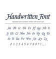 universal handwritten italic font hand drawn vector image vector image