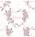 valentines day hand drawn seamless pattern heart vector image vector image