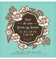 Vintage Floral Wedding invitation vector image vector image