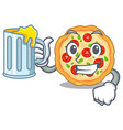 with juice margherita pizza isolated with the vector image vector image