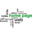 word cloud home page vector image vector image