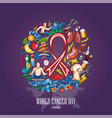 world cancer day-15 vector image