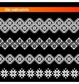 set of seamless ethnic borders floral patterns vector image