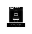 3d printer icon black sig vector image vector image