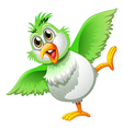 A playful bird vector image vector image