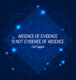 absence of evidence is not evidence of absence vector image vector image