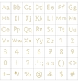 alphabet from human footprint vector image vector image