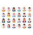 avatars head large set characters anonymous users vector image vector image