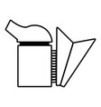beehive smoker icon outline style vector image vector image