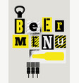 beer menu typographical vintage grunge poster vector image