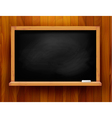 Blackboard on wooden background vector | Price: 1 Credit (USD $1)