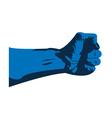 blue hand vector image