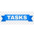 blue stripe with tasks caption vector image vector image