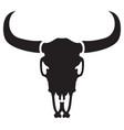 bull skull icon vector image vector image